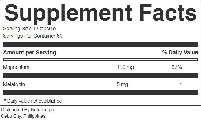 nutrisleep supplement facts
