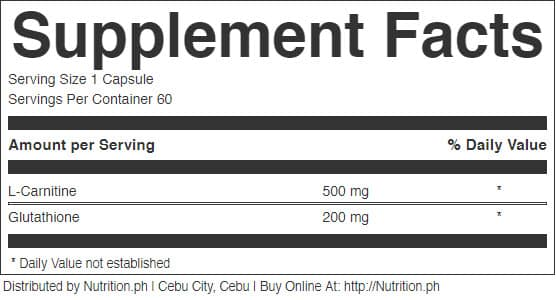 whiteloss supplement facts